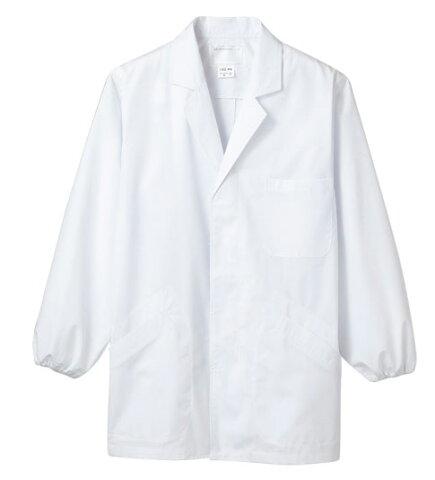 白衣 男性用調理衣白衣 衿付き 半袖1-603【】