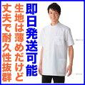 男性用、男子ドクターケーシー型横掛け白衣半袖アプロン/AP-RON/APRON