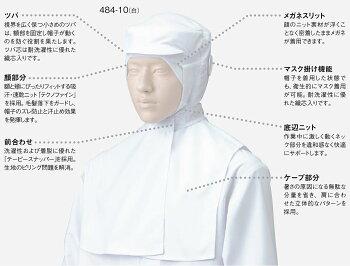 フード帽子(ケープ付)/ホワイト