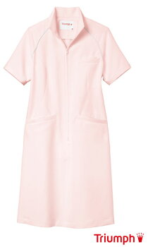 《Triumph》(トリンプ)女性用、ナースワンピース白衣ピンク