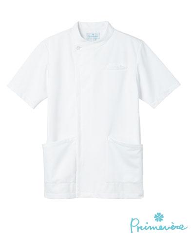 白衣 PHS用に重ポケット付きケーシー型ドクタージャケット半袖ホワイトSP/PT-402...