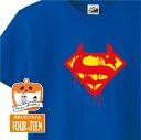 ハロウィンTシャツ「血みどろスーパーマンTシャツ」ハッピーハロウィンメンズレディースキッズベビー