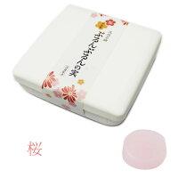洗顔石鹸ぷるんぷるんの実石けんソープ美容透明石鹸美容成分日本製お肌に優しい桜サクラさくら