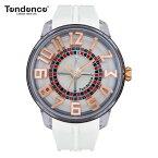 【正規4年保証】テンデンス Tendence 腕時計 King Dome ホワイト文字盤 TY023003 メンズ 【正規輸入品】【ルーレット部分がくるくる回転します】【送料無料】【楽ギフ_包装】【父の日】05P04Mar19