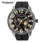 テンデンス Tendence 腕時計 King Dome ブラック文字盤 TY023002 メンズ 【正規輸入品】3年保証【文字盤中央あたりがくるくる回転します】【送料無料】