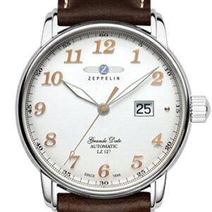 ()正規輸入品ツェッペリン腕時計FlatLineフラットラインブラウンレザーストラップ7362-1メンズ(自動巻)73621