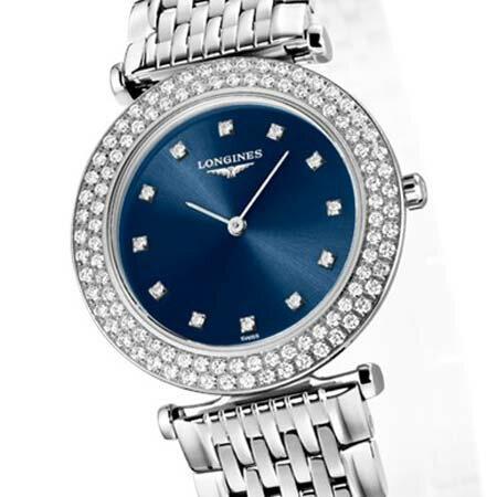 LONGINESロンジン腕時計ラグランクラシックドゥロンジン腕時計L4.308.0.97.6(レディース)【ダイヤモンド12ポイント入り】【送料無料】【名入れ】【RCP】20P04Jun19