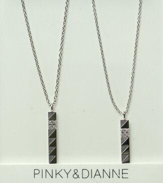 PINKY & DIANNE Silver ピンキー&ダイアン シルバー ペア ネックレス キュービック SV(ロジウムメッキ) VPCPD51539 VPCPD51540【送料無料】