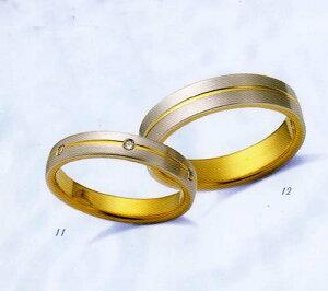 LANVIN(ランバン)Lavieenbleu結婚指輪ダイヤモンド入り(右側)