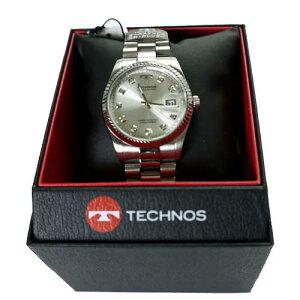 (即日発送)テクノス(TECHNOS)腕時計クロノグラフ10気圧防水TSM401SW【RCP】【最安値挑戦】【送料無料】【_包装】10P05Dec15
