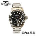 (あす楽)テクノス 腕時計 (TECHNOS) セラミックベゼル 自動巻き 10気圧防水 (正規品) T4A82SB メンズ裏スケルトン【最安値挑戦】【送料無料】【楽ギフ_包装】