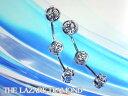 最高級ダイヤモンド 【ラザールダイヤモンド】 3ストーンピアス LD172PP【楽ギフ_包装】【楽ギフ_のし...