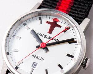 アンペルマン腕時計クォーツラウンドホワイトARI-4976-03