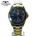 テクノス 腕時計 (TECHNOS)  ブルー 自動巻き 10気圧防水 (正規品) T4248TN メンズ裏スケルトン【楽ギフ_包装】【送料無料】【クリスマス】【02P02Sep17】