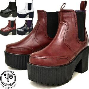 ヨースケYOSUKEサイドゴアブーツ厚底ブーツショートブーツレディース全4色S-LL2600997