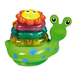 【新品】munchkin マンチキン 3つのリングが重なるお花を押すとお水がシュ! スネイル スタッカー Snail Stacker