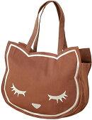 【新品】アディクト猫のトートバッグおすましプーちゃんキャンバストートブラウンP131019-24バッグかばん
