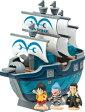 【新品】ワンピース キャラバンク海賊船シリーズ  ルフィーの海軍軍艦 MARINE SHIP ONE PIECE キャラバンク 貯金箱