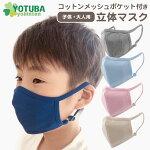 コットンメッシュポケット付立体マスク(抗菌・消臭加工)