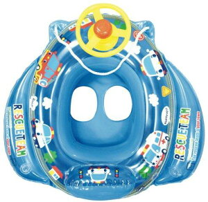 値下げしました!!【あす楽】ミニカーボート ブルー【ひも付きボート型浮き輪/足入れ浮き輪/ハ...