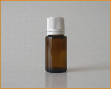 【アロマ】茶色硝子容器 AG−15 白キャップ・ドロップ栓付