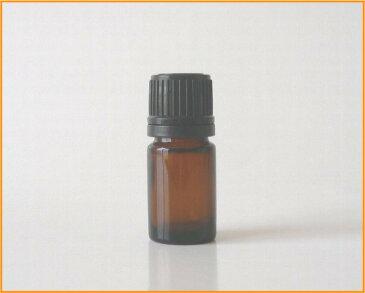 【アロマ】茶色硝子容器 AG−5 黒キャップ・ドロップ栓付