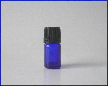 【アロマ】青色硝子容器 BG−5 黒キャップ・ドロップ栓付