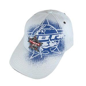 #980001PBR(プロフェッショナル ブル ライダー)キャップ メンズ レディース PROFESSIONAL BULL RIDERS アメカジ アメリカンカジュアル キャップ CAP 帽子 野球帽 ベースボールキャップ ブランドロゴ スプレー加工 ブルー 青 P5124
