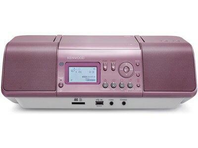 ケンウッド コンポ CLX-30-P [ピンク] [対応メディア:CD/CD-R/RW 最大出力:20W]