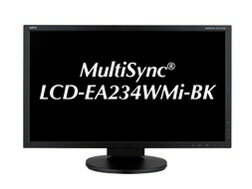 NEC 液晶顯示器及液晶顯示器 MultiSync 液晶電視 EA234WMi-BK [23 英寸黑色] [尺寸: 23 英寸顯示器提示: 寬屏解析度 (標準): 全高清輸入終端: D-Subx1/DVIx1/HDMIx1/Displayportx1]