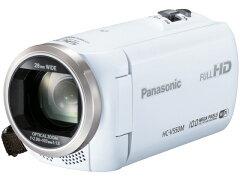 光学50倍&iA90倍ズームに対応したビデオカメラパナソニック ビデオカメラ HC-V550M-W [ホワイ...
