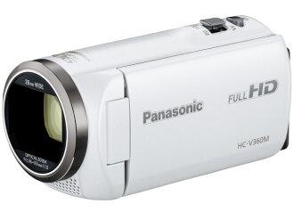 松下攝像機HC-V360M-W[白][類型:不利條件照相機高清晰對應:全高清攝影時間:125分本體重量:213g攝像元件:MOS 1/5.8型動畫有效像素數:]220萬像素]