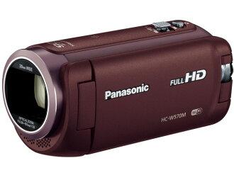 松下攝像機HC-W570M-T[棕色][類型:不利條件照相機高清晰對應:全高清攝影時間:135分本體重量:268g攝像元件:MOS 1/5.8型動畫有效像素數:]220萬像素]