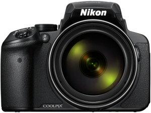 ニコン デジタルカメラ COOLPIX P900 [画素数:1676万画素(総画素)/1605万画素(有効画素) 光学ズーム:83倍 撮影枚数:360枚 手ブレ補正機構:○ 備考:顔認識AF]