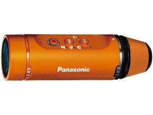 約45gの軽量一体型ウェアラブルカメラパナソニック ビデオカメラ HX-A1H-D [オレンジ] [タイプ...