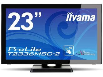 飯山液晶顯示器,液晶屏顯示 ProLite T 2336 MSC 2 T2336MSC-B2 [23 英寸奇跡黑色] [尺寸: 23 英寸顯示器提示: 寬屏解析度 (標準): 全高清輸入終端: DVIx1 / D-Subx1/HDMIx1/USBx1]