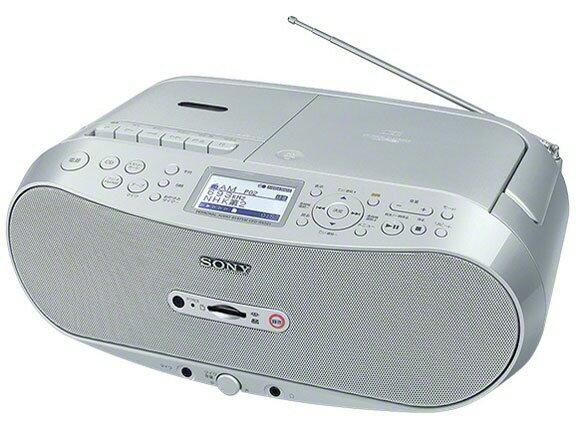 SONY ラジカセ CFD-RS501 [対応メディア:CD/CD-R/RW/カセットテープ 最大出力:3.4W]