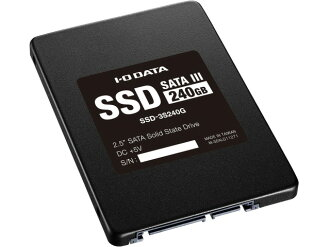 IODATA SSD SSD-3S240G[容量:240GB規格尺寸:2.5英寸接口:Serial ATA 6Gb/s型:MLC]