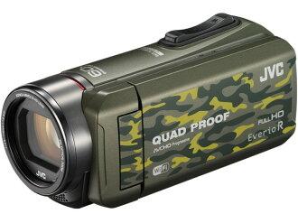 JVC攝像機Everio R GZ-RX600-G[僞裝][類型:不利條件照相機高清晰對應:全高清攝影時間:290分本體重量:295g攝像元件:CMOS 1/5.8型動畫有效像素數:]229萬像素]