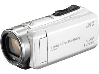 JVC攝像機Everio GZ-F200-W[珍珠白][類型:不利條件照相機高清晰對應:全高清攝影時間:310分本體重量:286g攝像元件:CMOS 1/5.8型動畫有效像素數:]229萬像素]