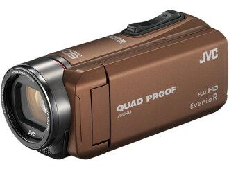 JVC攝像機Everio R GZ-R400-T[淺褐色][類型:不利條件照相機高清晰對應:全高清攝影時間:310分本體重量:290g攝像元件:CMOS 1/5.8型動畫有效像素數:]229萬像素]