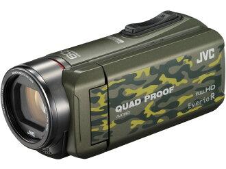 JVC攝像機Everio R GZ-R400-G[僞裝][類型:不利條件照相機高清晰對應:全高清攝影時間:310分本體重量:290g攝像元件:CMOS 1/5.8型動畫有效像素數:]229萬像素]
