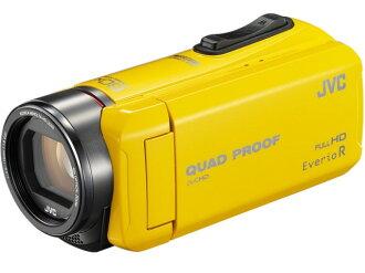 JVC攝像機Everio R GZ-R400-Y[黄色][類型:不利條件照相機高清晰對應:全高清攝影時間:310分本體重量:290g攝像元件:CMOS 1/5.8型動畫有效像素數:]229萬像素]