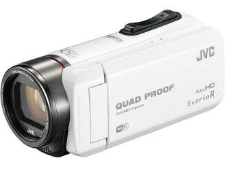 JVC攝像機Everio R GZ-RX600-W[白][類型:不利條件照相機高清晰對應:全高清攝影時間:290分本體重量:295g攝像元件:CMOS 1/5.8型動畫有效像素數:]229萬像素]