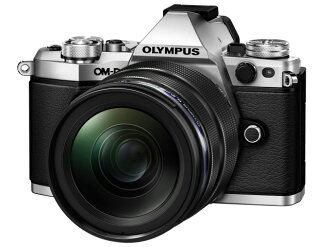 奥林巴斯數碼單反照相機OLYMPUS OM-D E-M5 Mark II 12-40mm F2.8透鏡配套元件[銀子]