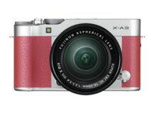 富士軟片數碼單反照相機FUJIFILM X-A3透鏡配套元件[粉紅][類型沒有鏡子的像素數:2420萬像素(有效像素)攝像元件:APS-C/23.5mm×15.7mm/CMOS連寫拍攝:6片斷/秒重量:290g]