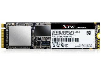 ADATA SSD XPG SX8000 ASX8000NP-256GM-C[容量:256GB規格尺寸:M.2(Type2280)接口:PCI-Express型:3D MLC]