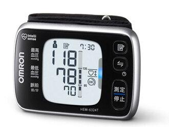 歐姆龍血壓計HEM-6324T[計測方式:手腕式電源:乾電池存儲器功能:兩個人*100回]