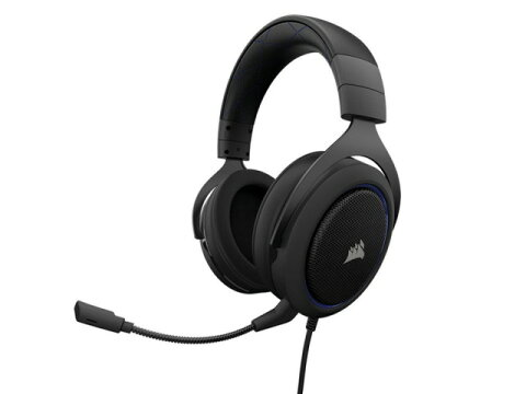 Corsair ヘッドセット Gaming HS50 STEREO CA-9011172-AP [Blue] [ヘッドホンタイプ:オーバーヘッド プラグ形状:ミニプラグ 片耳用/両耳用:両耳用] 【楽天】 【人気】 【売れ筋】【価格】
