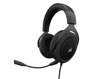 【ポイント5倍】Corsair ヘッドセット Gaming HS50 STEREO CA-9011171-AP [Green] [ヘッドホンタイプ:オーバーヘッド プラグ形状:ミニプラグ 片耳用/両耳用:両耳用] 【楽天】 【人気】 【売れ筋】【価格】【半端ないって】